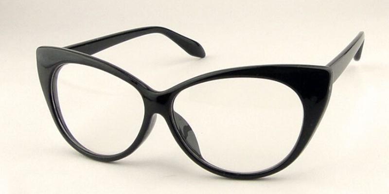 brand new designer cat eye glasses retro fashion black women glasses frame clear lens vintage eyewear