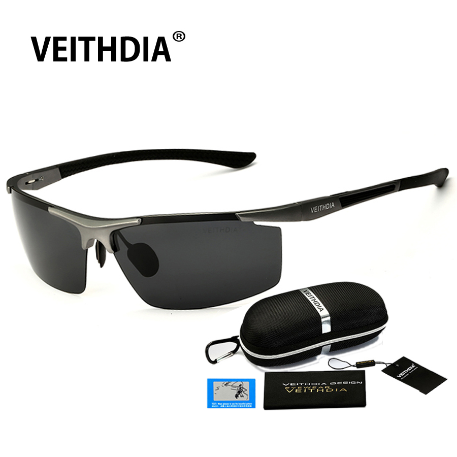 Rimless Glasses Plugs : VEITHDIA 2017 Aluminum Magnesium Sunglasses Polarized Men ...