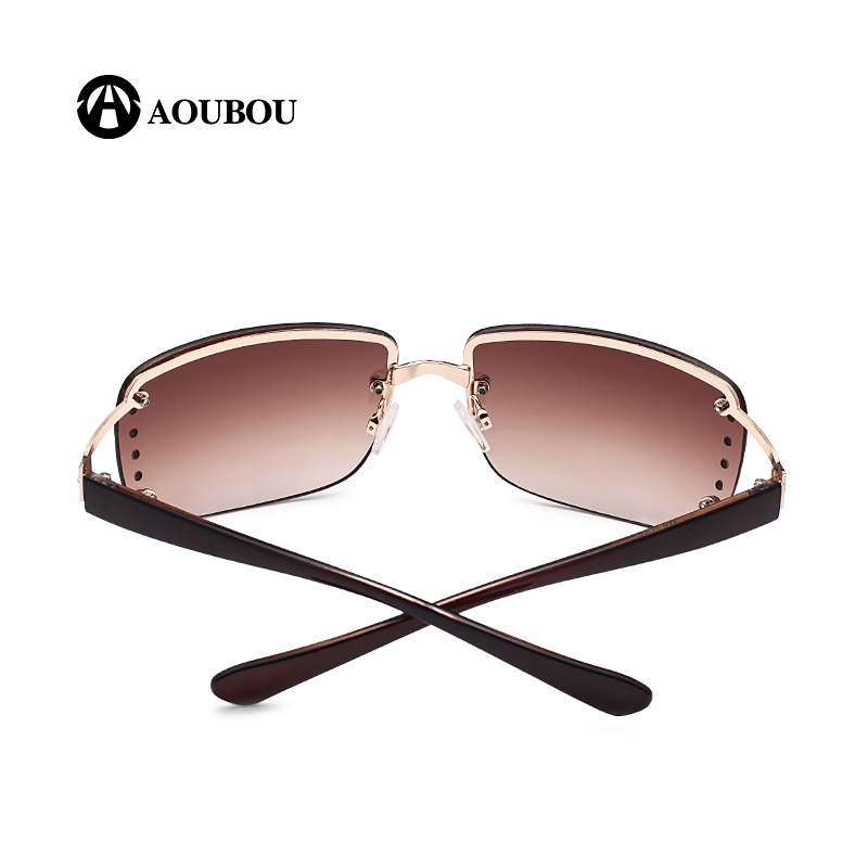 Rimless Glasses Plugs : AOUBOU 2017 Vintage Rimless Sunglasses Women Luxury ...