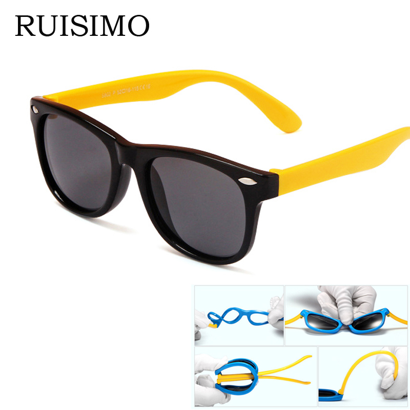 rubber frame New Children TAC Polarized Sunglasses Kids ...