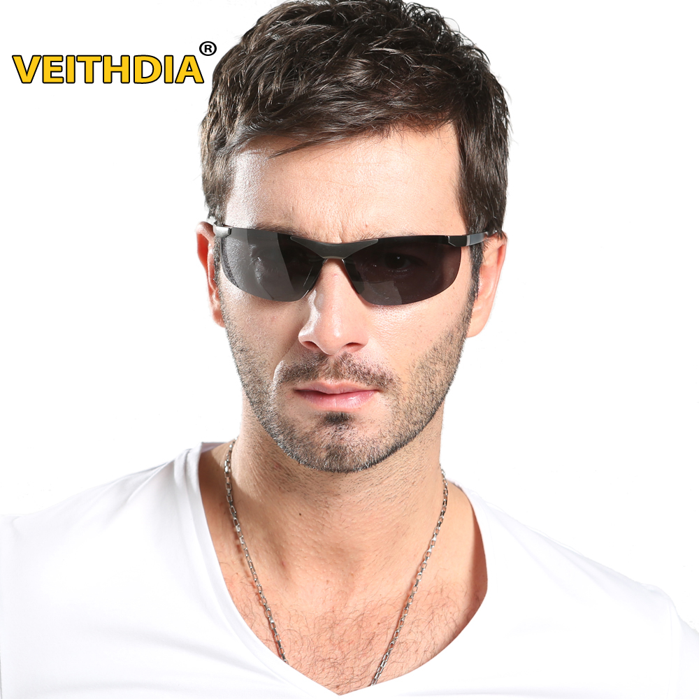 Rimless Glasses Plugs : VEITHDIA Brand Men s Polarized Sunglasses Rimless ...